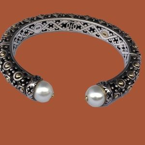 John Hardy Sterling Silver 18K Gold Cuff bracelet